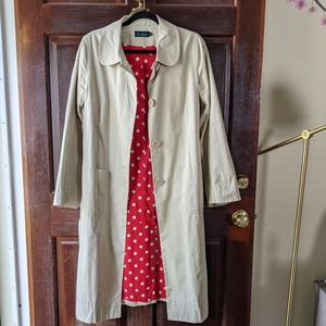 BODEN Classic Sandstone Trench Coat Size 14